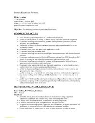 Electrician Resume Template Free Or Electrician Apprentice Cover