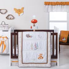 trend lab gnome boy 4 piece crib bedding set
