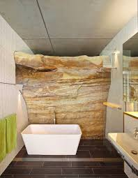 exposed rock wall beats the traditional use of stones and tiles design richard