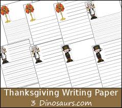 Dinosaur writing paper