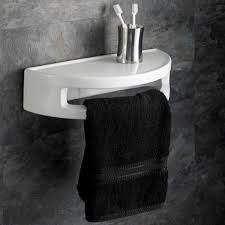 home wall mounted 40cm avelino ceramic circular bathroom shelf with towel rail avelino ceramic circular shelf