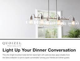 quiozel soho brushed nickel kitchen island light