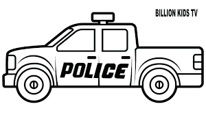 Police Pickup Truck Coloring Pages Pickup Truck Coloring Sheet Free