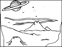 Small Picture Alien Landscape Coloring Page Wecoloringpage