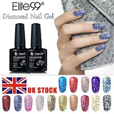 dels about elite99 supper glitter diamond gel nail polish sealer primer lacquer pedicure uk