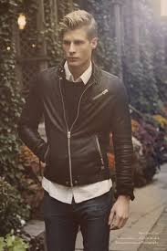 a black leather er jacket and blue jeans is a wonderful combination to carry you throughout