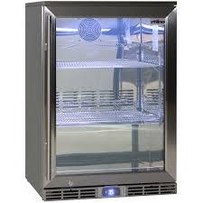 rhino 1 door alfresco outdoor glass door bar fridge model gsp1h 840 ss