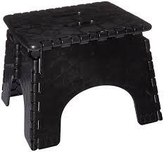 Step Stool For Bedroom Amazoncom B R Plastics 103 6bk E Z Foldz Black 12 Step Stool