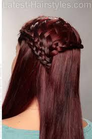 basket weave braid bohemian hairstyle back