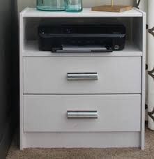 Printer stand ikea Rast Bedside Printer Stand Real Simple 10 Ikea Hacks You Can Do In Weekend