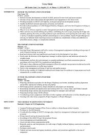 Transportation Resume Examples Transportation Engineer Resume Samples Velvet Jobs 12