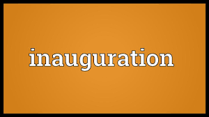 Image result for inaugurated word