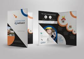 Half Fold Brochure template for Construction Company Stationary ...