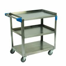 d stainless steel 3 shelf utility cart uc5032135 the home depot