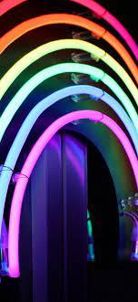 Neon lights, rainbow colors 1080x1920 ...