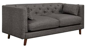 elle decor celeste tufted sofa chenille gray dark grey sofa59