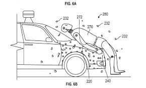 google patents     sticky     layer to protect pedestrians in self        ideally  the adhesive coating on the front portion of the vehicle   be activated