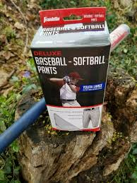 Franklin Deluxe Baseball Softball Pants Youth Large Grey 10368