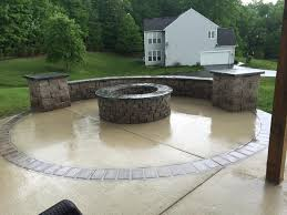 stamped concrete patio with fireplace. Lovely Concrete Patio Fire Pit Pits American Exteriors Masonry Stamped With Fireplace