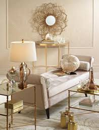 gold and silver table lamp and gold sunburst mirror from lamps plus