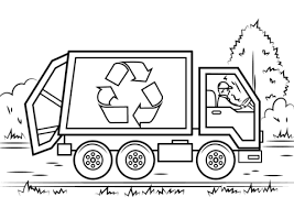Small Picture Recycling Truck coloring page Free Printable Coloring Pages
