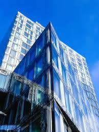 modern office building. Architecture Building Skyscraper Downtown Tower Landmark Facade Blue Modern Office Block Zurich Commercial I