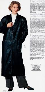 the black leather coat returned to the jcpenney catalog in 1989