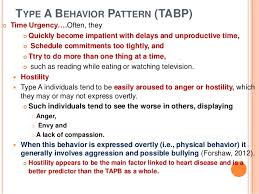 Type A Behavior Pattern