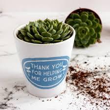 personalised teachers gift plant pot