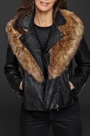 katherine barclay vegan leather jacket front cropped image
