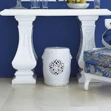blue garden stool. Chinese Garden Stool Blue