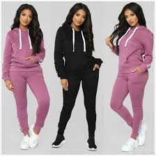 Womens Designer Sweat Suits 2019 Wholesale Designer Womens Clothes Casual Fashion 2019 Autumn Spring Long Sleeved Two Piece Jogger Set Ladies Fall Tracksuit Sweat Suits From
