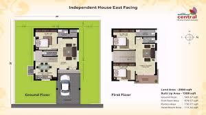 house plan for 600 sqft east facing