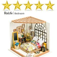 miniature dollhouse kit w accessories and furniture creative toys model building