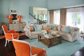 Blue and Orange Living Room Orange Living Room Decor