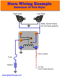 automotive horns gtsparkplugs relay horn wiring diagram