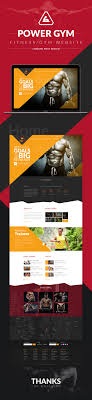 gym website design power gym website design landing page on behance
