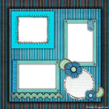 Layouts Blue Free Printable Scrapbook Layouts Blue And Stripes Layout