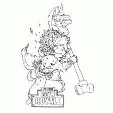 Fortnite Battle Royale Coloring Pages Leuk Voor Kids