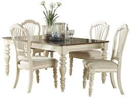 hilale furniture pine island 5 piece dining set with wheat back chairs