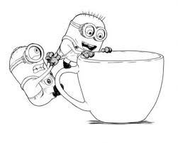 Small Picture Cute Cartoon Minions Despicable Me Coloring Pages Minions
