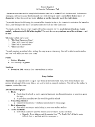 performance task essays paragraph