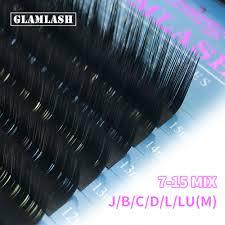 <b>GLAMLASH</b> 16rows <b>7</b>~15mm 15-<b>25mm Mix</b> 100% Handmade False ...