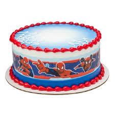 Spider Man Cake Strips Edible Cake Topper