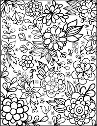 Flower Coloring Pages Plus Floral Free Printable Page From Hearts A