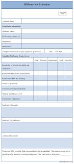 behavioral interview evaluation form professional resume cover behavioral interview evaluation form interview evaluation form spreadsheetzone hr interview evaluation form sample forms