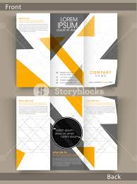 Fold Flyer Tri Fold Flyer Template Or Brochure Design With Proper Place Hoders