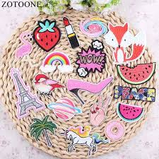 <b>ZOTOONE</b> 10Pc Cherry Patches Sequin Iron On DIY Embroidered ...
