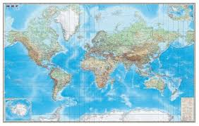 <b>DMB Физическая карта Мира</b> с границами 1:15 (293) — купить по ...