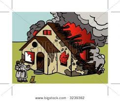 house on fire vector photo bigstock a house on fire